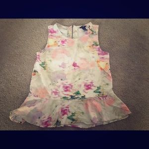 H&M size 10 polyester multi colored spring top